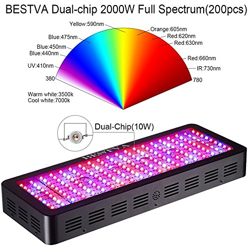 BESTVA 2000W Double Chips LED Grow Light