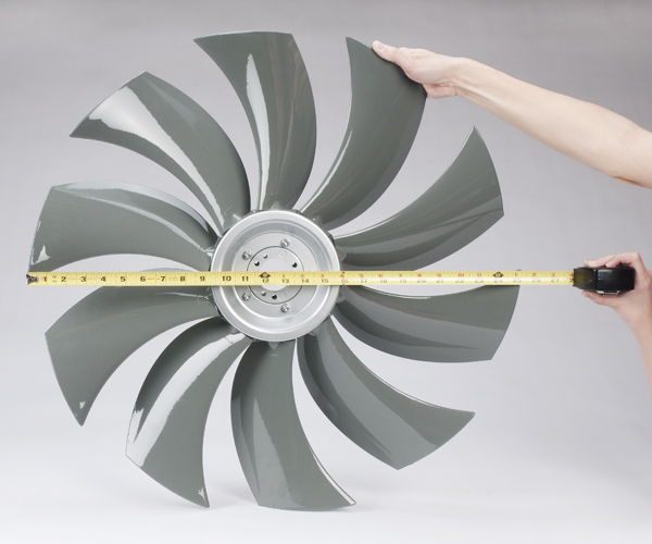Diameter of the fan