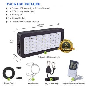Golspark Indoor LED Grow Light,
