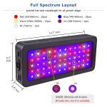 Golspark Indoor 600W Full Spectrum LED Grow Light Reviews