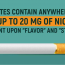 How Much Nicotine is in a Cigarette Percentage?